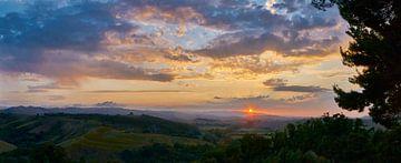 Toscaans panorama van Michael Echteld