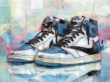 Nike Air Jordan 1 Travis Scott Fragment Malerei von Jos Hoppenbrouwers