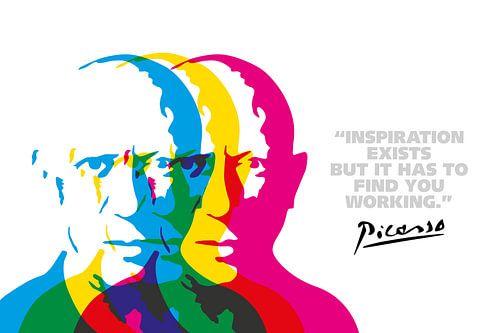 Pablo Picasso Quote van Harry Hadders