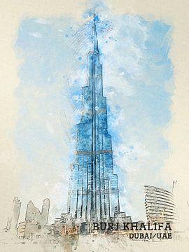 Burj Khalifa van Printed Artings