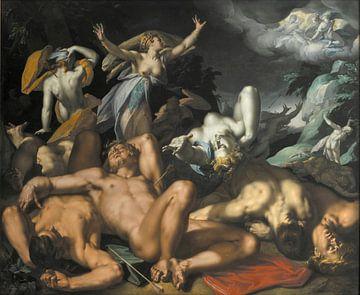 Apollo und Diana bestrafen Niobe mit der Tötung ihrer Kinder - Abraham Bloemaert, 1591 von Atelier Liesjes