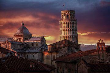 Pisa im Abendlicht von Jürgen Wiesler