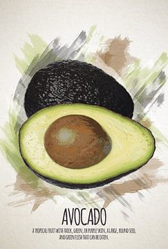 Fruities Avocado sur Sharon Harthoorn