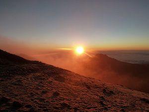 Zonsopgang vanaf Kilimanjaro van Dempsey Cappelle