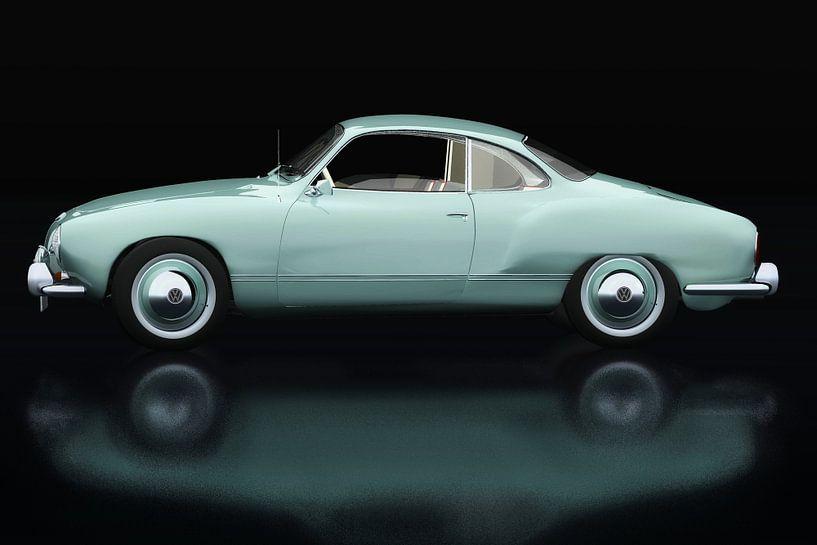 Volkswagen Karmann Ghia Zijaanzicht van Jan Keteleer