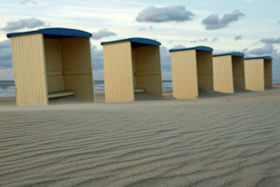 strand cabines katwijk van Dirk van Egmond