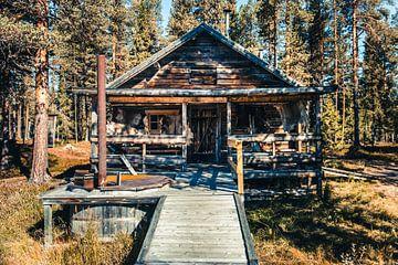 Holzblockhaus in Schwedisch-Lappland von Expeditie Aardbol