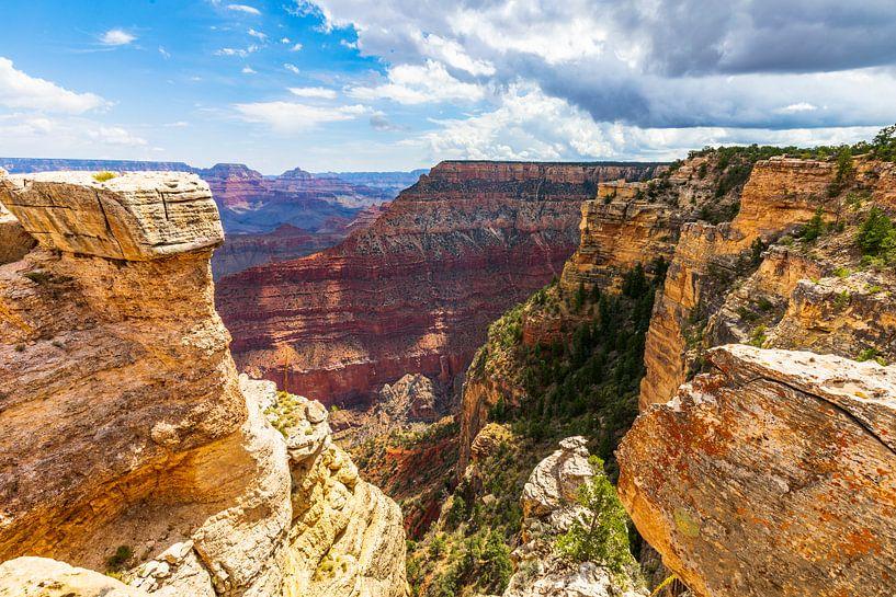 Grand Canyon - Geel en Rood van Remco Bosshard