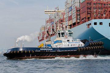 Werk in de haven van Peter Dane