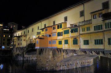 Ponte Vecchio bij avondlicht Florence van Sandra van der Burg