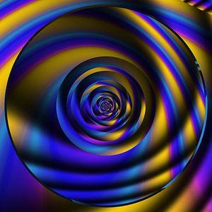 gold blue Circle von Claudia Gründler