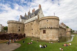 Het kasteel van de hertogen van Bretagne in Nantes