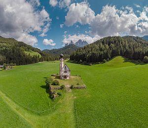 Kirche St. Johann in Ranui, Villnoss Tal, Sankt Magdalena, Südtirol - Alto Adige, Italië