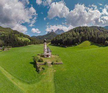 Kirche St. Johann in Ranui, Villnoss Tal, Sankt Magdalena, Südtirol - Alto Adige, Italien von