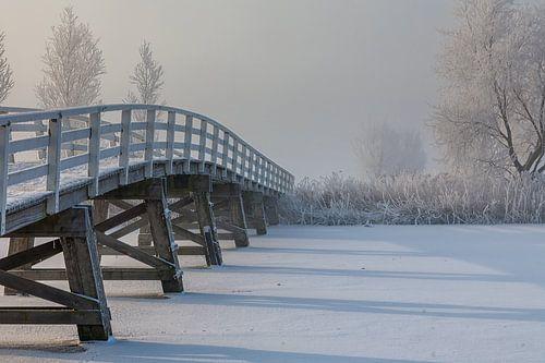 Brug over bevroren water van