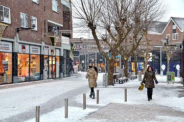 Spijknisse, Winkel Centrum, Wintertijd van Willem Scherpenisse