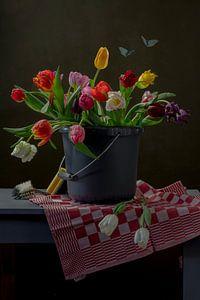 Stilleven 'the bucket' van Willy Sengers