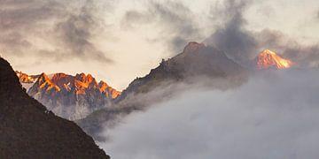 Franz Josef en Fox gletsjer van Antwan Janssen