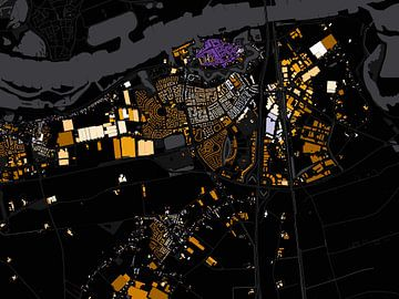 Kaart van Zaltbommel abstract von Stef Verdonk