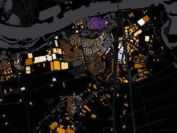 Kaart van Zaltbommel abstract