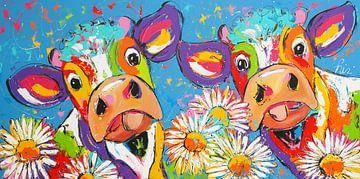 Bloemenfeest van Vrolijk Schilderij