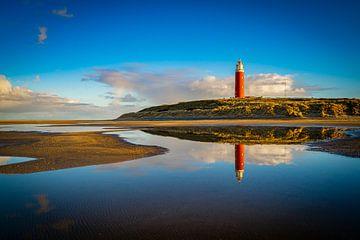 Texeler Leuchtturm-Spiegelung von Chris van Es