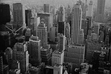 Manhattan - Schwarz und Weiß von Jan-Hessel Boermans