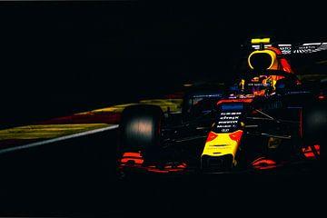 alexander albon während des Formel-1-Grand-Prix von Belgien