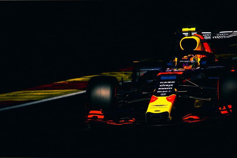 Alexander Albon tijdens de formule 1 grand prix van belgie van Rubin Versigny