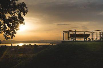 Zonsondergang op de Reichenau van Danny Tchi Photography