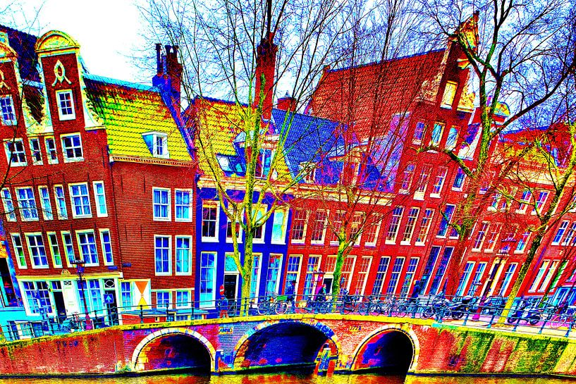 Colorful Amsterdam #112 van Theo van der Genugten