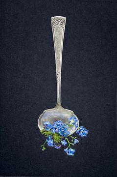 Silberlöffel mit Vergissmeinnicht von Hannie Kassenaar