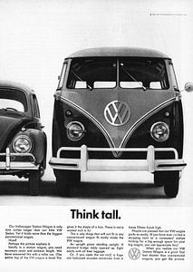Vintage advertentie 1961 VW