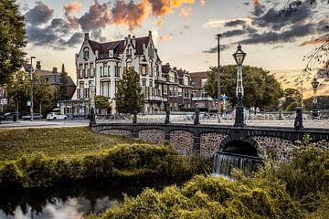 Sonnenuntergang im Hotel Molendal in Arnheim. von Claudio Duarte