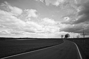 op straat - zwart-wit van Steffi Hommel
