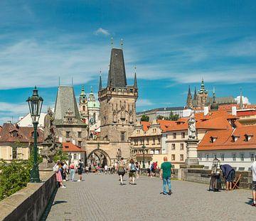 Malostranské mostecké věže, De benedenstad brug toren, Prag Praha, , Tsjechië, van Rene van der Meer