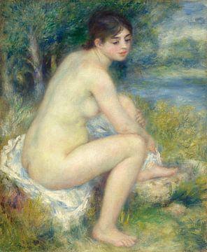 Nackte Frau in einer Landschaft, Pierre-Auguste Renoir, 1883