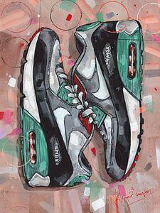 Nike air max 90 schilderij van Jos Hoppenbrouwers