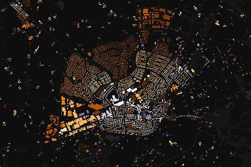 Kaart van Haaksbergen abstract