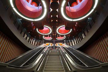 Brüsseler U-Bahnhof von Mark Bolijn