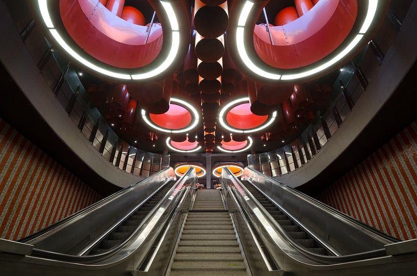Metrostation Brussel van Mark Bolijn