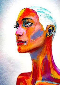 Portret in kleur van Jellie van Althuis