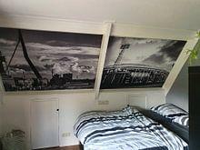 Kundenfoto: Erasmusbrücke Rotterdam in Schwarz und Weiß von Mark De Rooij, auf nahtloser fototapete