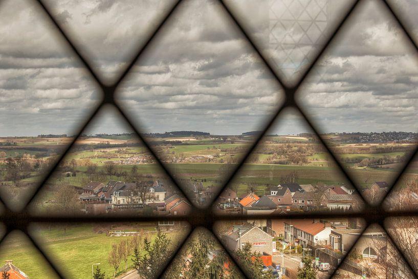Uitzicht vanaf de Sint Martinuskerk in Vijlen van John Kreukniet