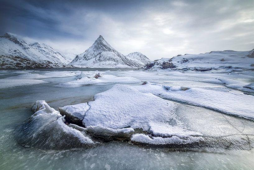 Winters Lofoten van Peter Poppe