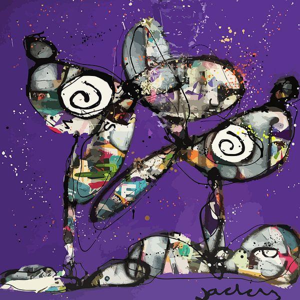 Purple Dogs van Jacky Zegers