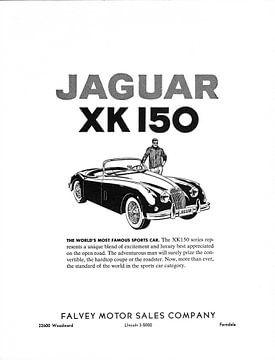 1960 Jaguar XK 150 reclame van Atelier Liesjes