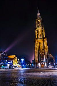 Delft | Nieuwe Kerk in de nachtelijke spotlight