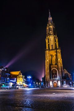 Neue Kirche im Mittelpunkt stehen, Delft von Ricardo Bouman