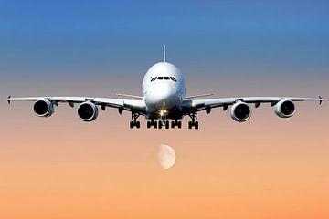 Airbus A380 bei der Landung von Gert Hilbink
